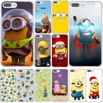 Despicable Me Minions Minion Milk Hard Phone Case for Apple iPhone XR XS Max X 8 7 6 6S Plus 5 5S SE 5C 4S 10 Cover 8Plus Cases