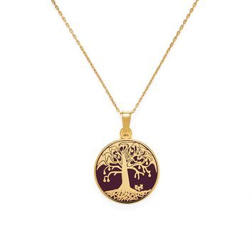 Cabernet Tree Of Life Expandable Necklace