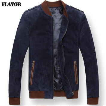 real leather jacket motorcycle Leathe jackets bomber jacket men motorcycle coats