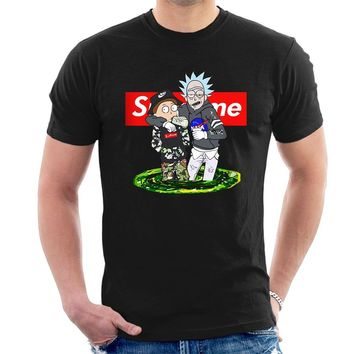 RICK AND MORTY SUPREME STYLE PARODY T-SHIRT funny sanchez tee E10