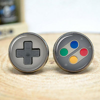 Game Consoles Cufflinks,gamepad button game player cuff links gift for him,Men Accessories (CL70)