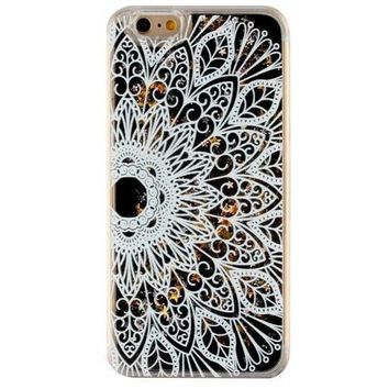 Quicksand Lace Floral Case Cover for iPhone 6 6s Gift-170928