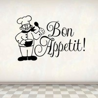 Bon Appetit Decor Kitchen Wall Decal Quote
