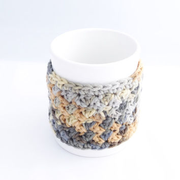 Crochet Coffee Mug Cozy -  Crochet Tea Cup Cozy - Crochet Mug Sweater - Teacher Appreciation Gift - Mother's Day Present - Gift for Mom