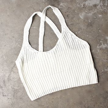 Final Sale - Basic Slouchy Knit Crop Top - More Colors