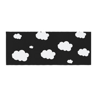 "Suzanne Carter ""Clouds"" Black White Bed Runner"