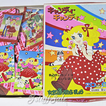 66 pcs!  -  Candy Candy cards and the cases - 70's vintage anime