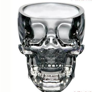 55ml Skull Glass beer stein shot wine glass Head Whiskey Drinking popular design new fashion party