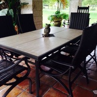 Hampton Bay Pembrey 7-Piece Patio Dining Set HD14214 at The Home Depot - Mobile