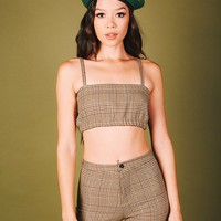 Working Gal Tube Top (Beige Tan)