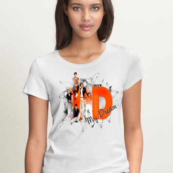 One Direction shirt Women Logo1 Tee 1D Shirt Pop Rock  Women T Shirt