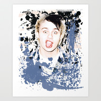 Michael paint splatter Art Print by kikabarros