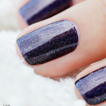 Homecoming - Holographic Nail Polish - Gold and Purple