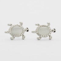 Cats Eye Turtle Stud Earrings