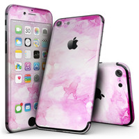 Pink v4 Absorbed Watercolor Texture - 4-Piece Skin Kit for the iPhone 7 or 7 Plus