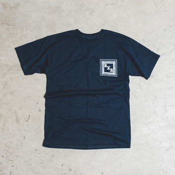 Born x Raised Flag Tee - 'Navy'