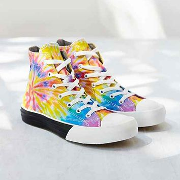 UNIF Blotter Tie-Dye High-Top Sneaker- Multi