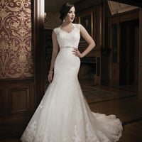 Justin Alexander 8689 Lace Mermaid Wedding Dress