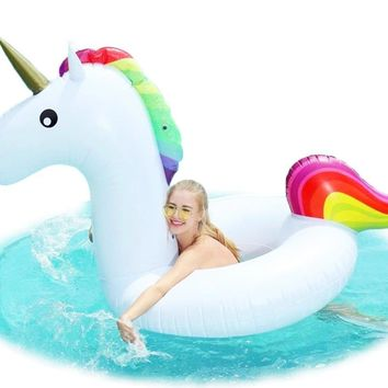 Inflatable Unicorn Swimming Ring Giant Pool Float