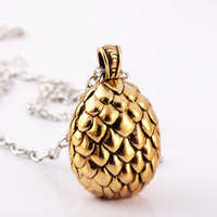 Gold Plated Dragon Egg Necklace