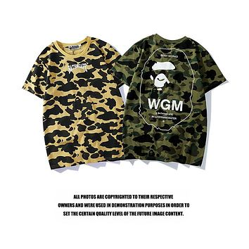 Bape 2018 summer new military style camouflage short-sleeved T-shirt F-CP-ZDL-YXC
