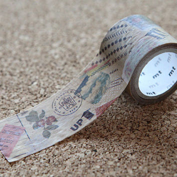 Romantic Collage, Japanese Washi Paper Masking Tape - mt fab, Wax Paper - Natural Brown, Colorful Scrapbooking, Kawaii Deco, Gift Wrapping