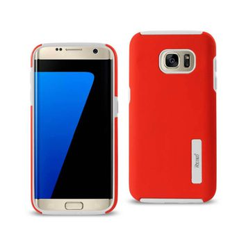 Samsung Galaxy S7 Edge Solid Armor Dual Layer Protective Case In Red