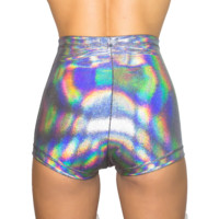 Holographic Diamond Shorts