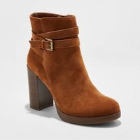 Women's Nala Platform Wrap Booties - A New Day™