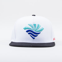 Town of Diamond Snapback in White/Black