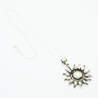 TURKISH SILVER ➳ SUN NECKLACE