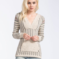 Roxy Mellie Womens Hooded Sweater Oatmeal  In Sizes