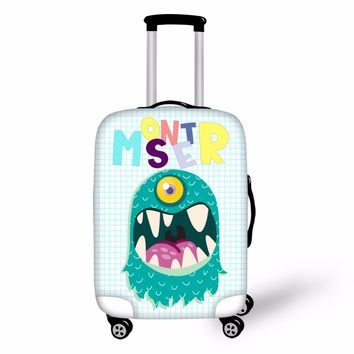 FORUDESIGNS Suitcase Cover Monsters University Luggage Protective Cover Student Kid Cartoon Trolley Luggage Accessorie Supplier