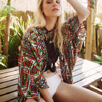 Arnhem Clothing Song Bird Kimono Mayan Song
