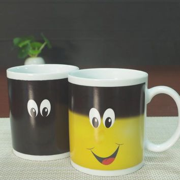 Smiley Face Heat Revealing Ceramic Mug
