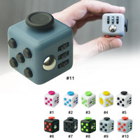 2017 New 11 Style Tri-Spinner Fidget Toys Cube Finger Anti Stress Reliever Toys Puzzles & Magic Cubes Toys Funny Relax Toy