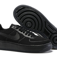Women's Nike Air Force 1 Low Upstep BR Black