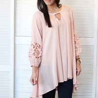 Laced Out Trapeze Tunic {Blush}