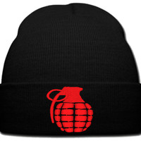 GRANEDA RED beanie knit hat