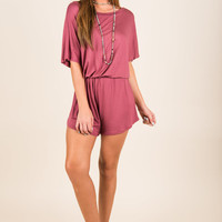 Brought To Life Romper, Mauve
