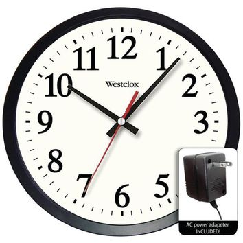 """Westclox(R) 32189A 14"""" Round Electric Powered Office Wall Clock"""