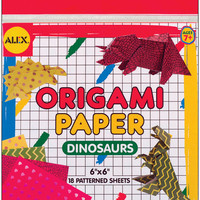 Origami Paper 18 Piece Set - Dinosaur Shapes