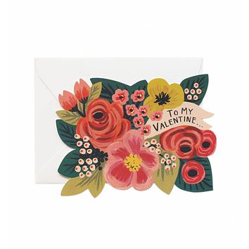 To My Valentine... Die Cut Flat Note