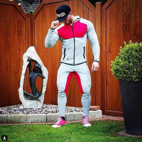 2016 Fitness Men Hoodies Brand Clothing Men Hoody Zipper Casual Sweatshirt Muscle Men's Slim Fit Hooded Jackets