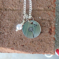 Dandelion Blowing in the Wind Necklace