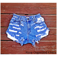 High Waist Distressed Daisy Dukes