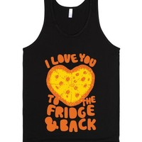 I Love You To The Fridge & Back-Unisex Black Tank