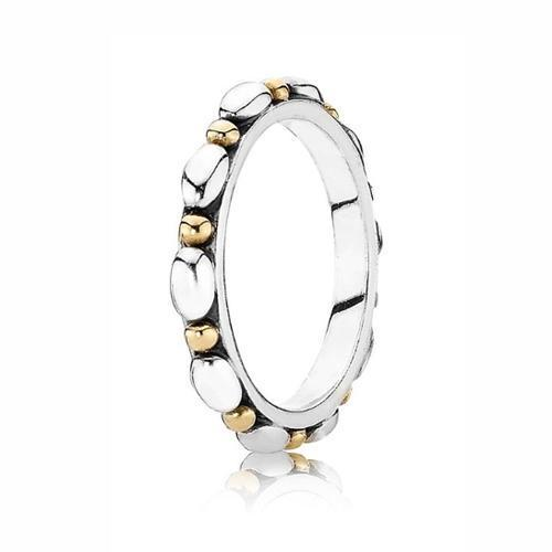 Pandora Two Tone Opposites Attract Ring From Reeds Jewelers