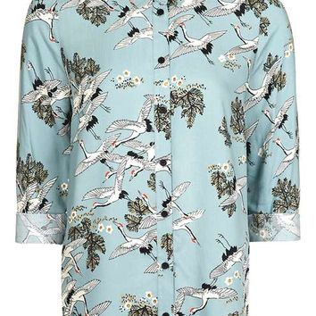PETITE Birds In Flight Shirts - Tops - Clothing
