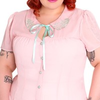 Shelli Blouse in Pink   Blame Betty